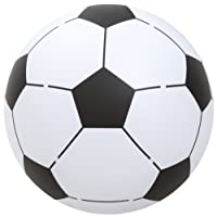 Bestway 14957 Ballon de football Multicolore( Blanc/Noir) - diamètre  1.22 m