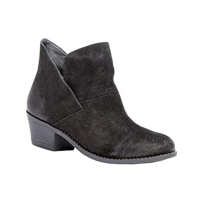 Me Too Women's Zena Ankle Boot, Color: Black Suede, Size: 8.5 M US | Boots