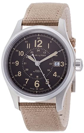 6e24bfb192c Image Unavailable. Image not available for. Color  Hamilton Khaki Field  Automatic Blue Dial Mens Nylon Watch H70305943