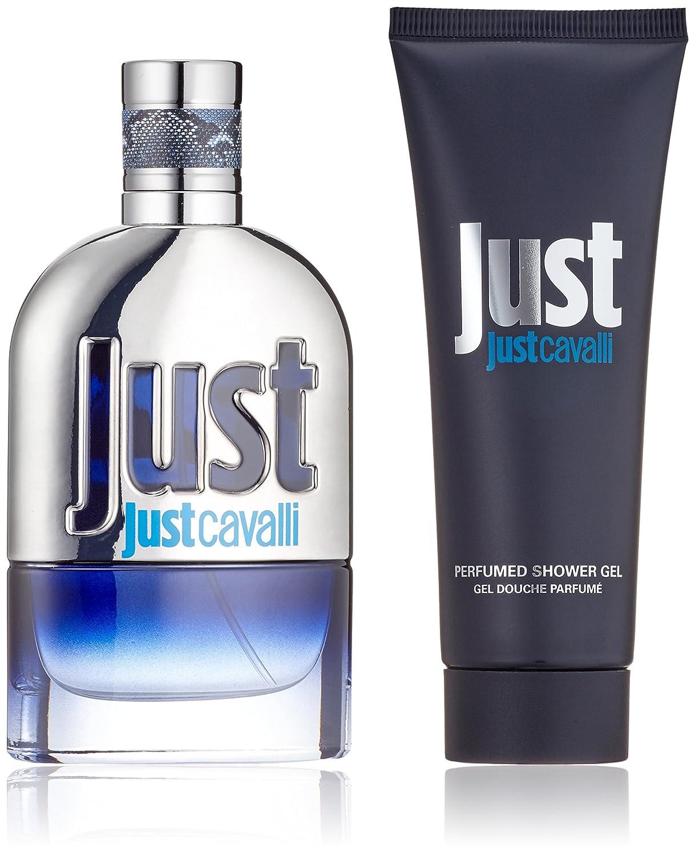 2f05cbee34c94 Roberto Cavalli Just Cavalli Man Gift Set contains EDT Spray 50 ml and  Shower Gel 75 ml  Amazon.co.uk  Beauty