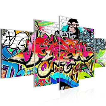 Bilder Graffiti Street Art Wandbild 200 x 100 cm Vlies - Leinwand ...