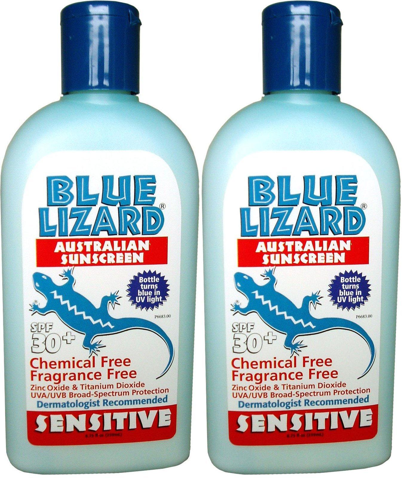 Blue Lizard Sensitive Sunscreen SPF 30+-8.75 oz, 2 pack by Blue Lizard