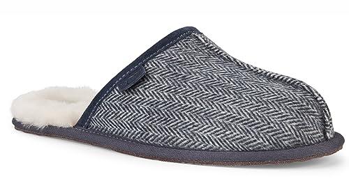 UGG Australia - Zapatillas de Estar por casa de Piel para Hombre Morado Imperial Morado Size: 42: Amazon.es: Zapatos y complementos
