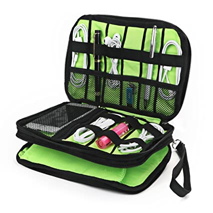 Cable Organizer Bag, Jelly Comb Electronic Accessories Travel Organizer Bag  Waterproof USB Cable Storage Bag