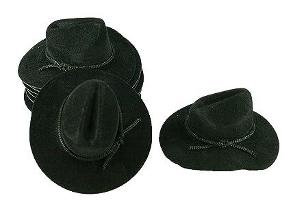 Amazon 12 Mini Black 4 Felt Cowboy Hat Western Wedding Party