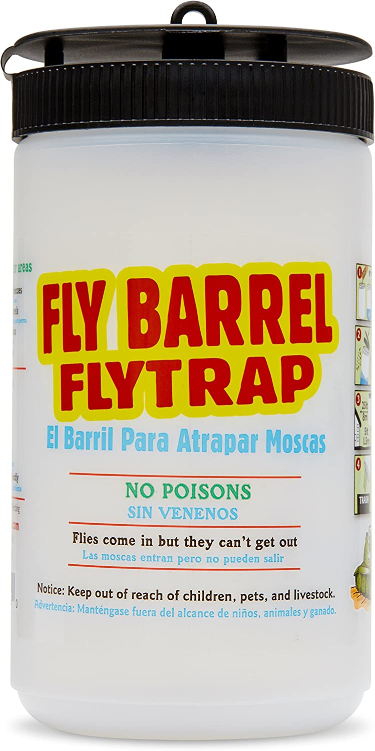 Flies Be Gone Fly Barrel Fly Trap (1) Non Toxic re-usable or Disposable Outdoor Fly Catcher