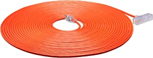 AmazonBasics Outdoor Extension Cord with Lighted 3 Outlets, Orange, 100 Foot