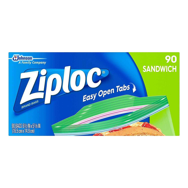 Ziploc Sandwich Bag, 90 Count