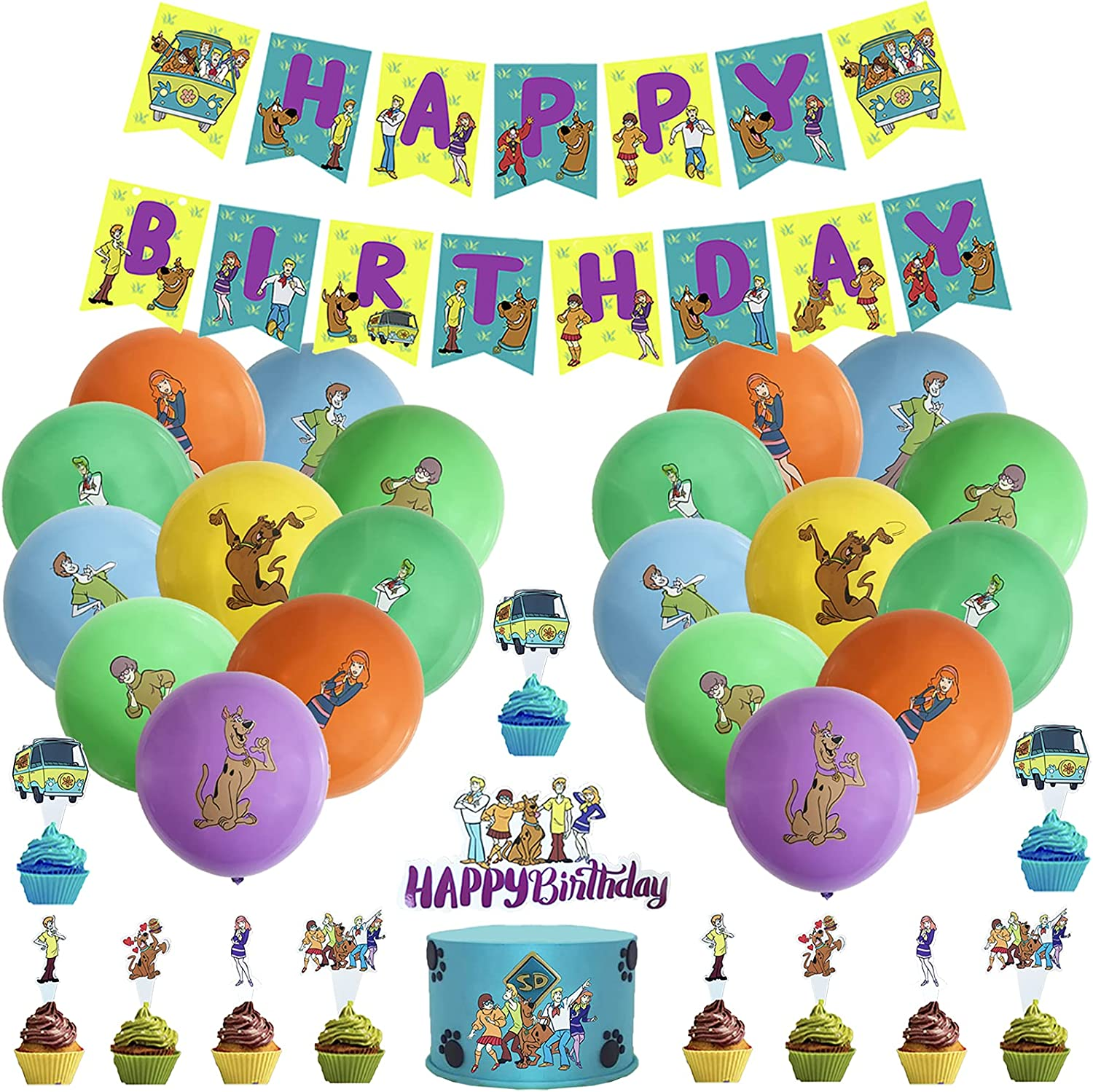 Scooby-Doo Birthday Party Decorations 5 ☆ very popular B Including Industry No. 1 Happy