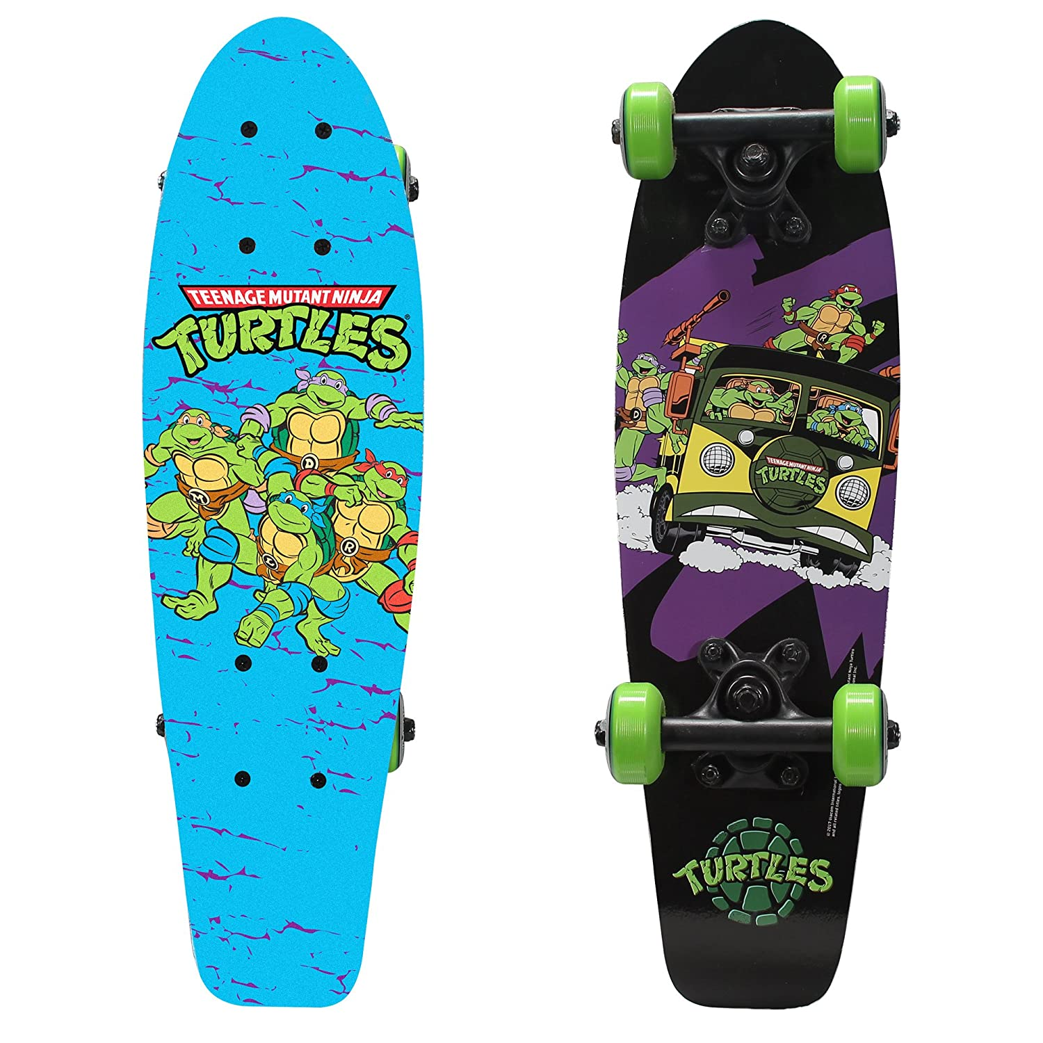 "PlayWheels Teenage Mutant Ninja Turtles 21"" Wood Cruiser Skateboard, Turtles on the Go"