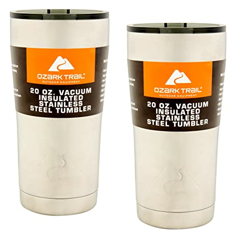 18af8780c01 Ozark Trail 20-Ounce Double-Wall, Vacuum-Sealed Tumbler (2, Stainless Steel)