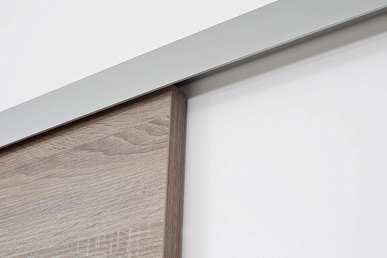 Puerta Corredera de madera sin marco roble salvaje 755 X 2035 mm, completo: Amazon.es: Bricolaje y herramientas