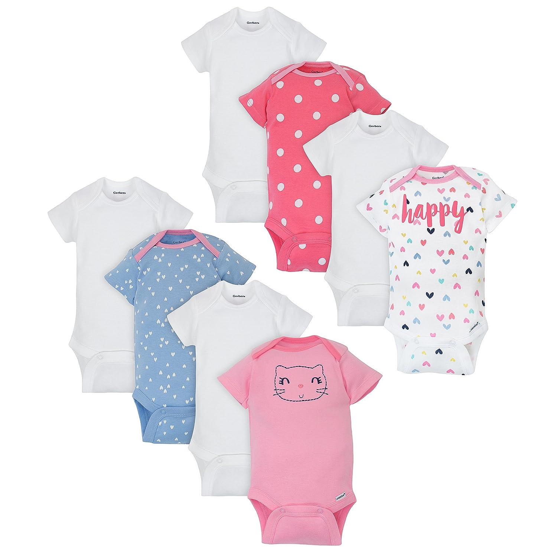 Gerber Baby Girls 8 Pack Variety Onesies Bodysuits
