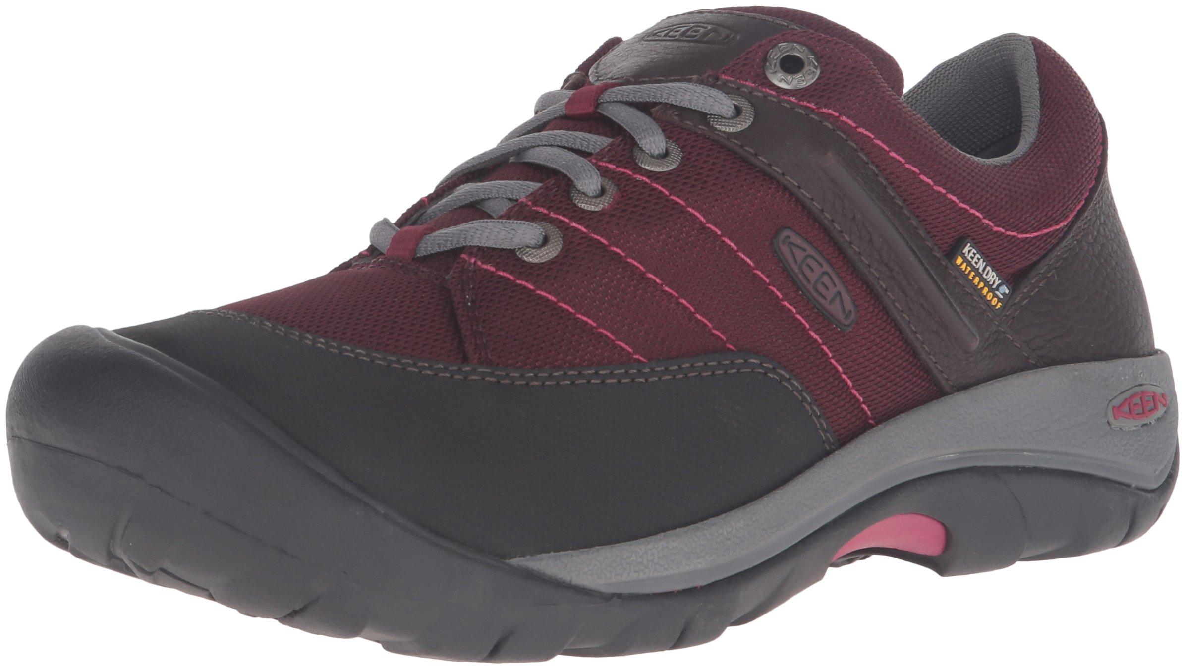 KEEN Women's Presidio Sport Mesh Waterproof Shoe, Zinfandel, 9 M US by KEEN