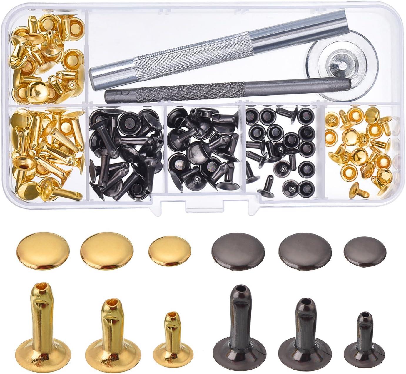 16 mm métal rapide Rivet Rivets BOUTON TROU snap Leather Craft attaches Sacs Bricolage