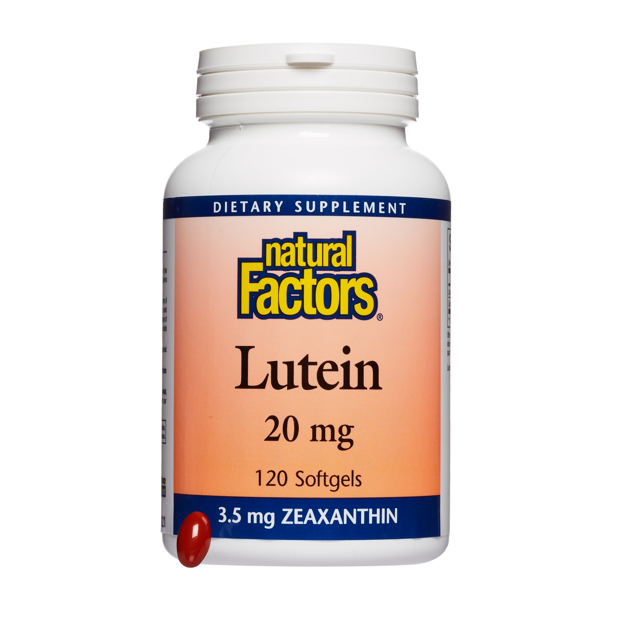 Natural Factors, Lutein 20 mg, Antioxidant Support for Healthy Eyes and Skin with Zeaxanthin, 120 softgels (120 servings) by Natural Factors