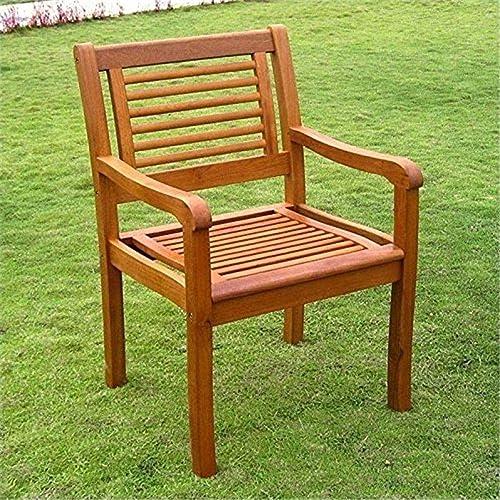 International Caravan Furniture Piece Royal Tahiti Bar Harbor Set of 2 Arm Chair