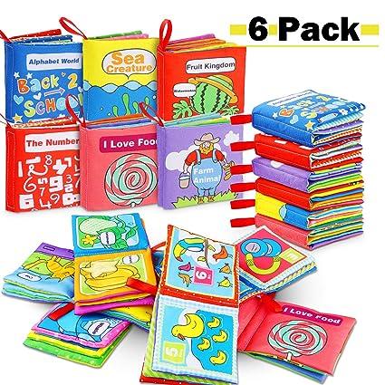 Livres Pour Bebes Lot De 6 Livre Educatif En Tissu Jouets Pour Enfants Jouets