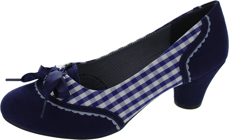 Ruby Shoo Damen Pumps Odilie Pepita Vintage Schleife Schuhe Geschlossen