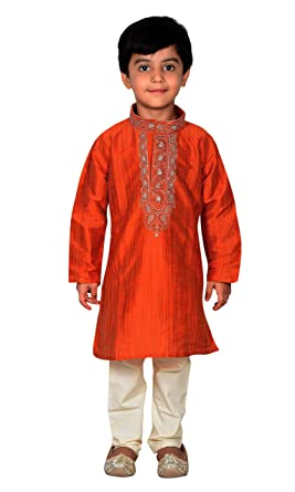 abf7c186af Amazon.com  Boys Sherwani Kurta Pyjama Party Wear Kids Salwar Kameez 876   Clothing