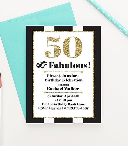 amazon com 50 and fabulous birthday invitation 50 and fabulous