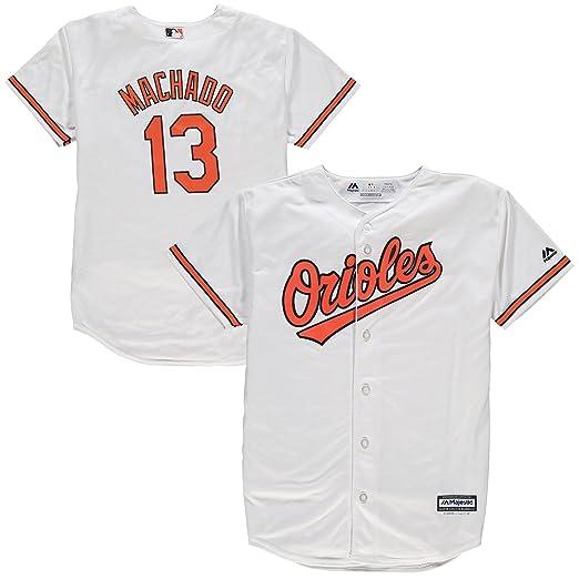 e360c08e7 Amazon.com   Manny Machado Baltimore Orioles Youth Home Cool Base Replica  Jersey (Youth Large 14 16)   Sports   Outdoors