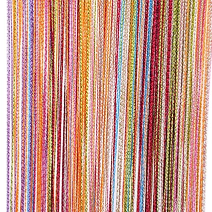 Tangpan 7 Color Colorful Door String Thread Fringe Window Panel Room Divider String Curtain Cute Strip  sc 1 st  Amazon.com & Amazon.com: Tangpan 7 Color Colorful Door String Thread Fringe ...