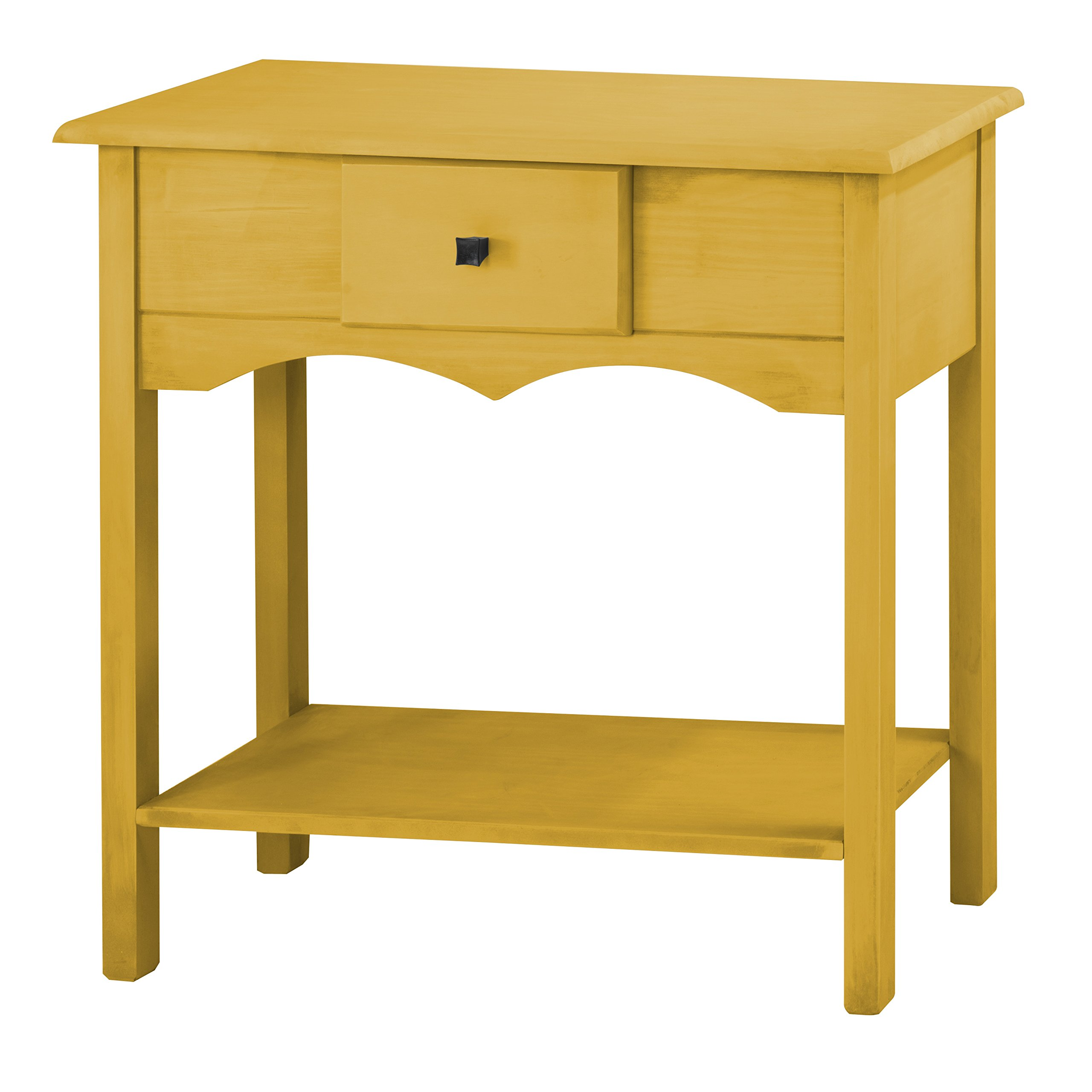 Manhattan Comfort Jay Collection Modern Wooden Sideboard Table with One Drawer and One Shelf, Yellow
