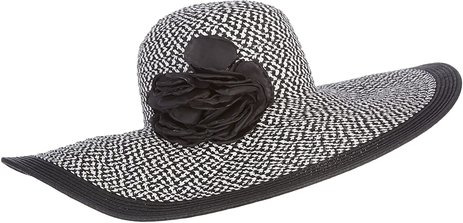 f442a90eb942fd Nine West Womens Floppy Hat One Size Black/white at Amazon Women's Clothing  store: