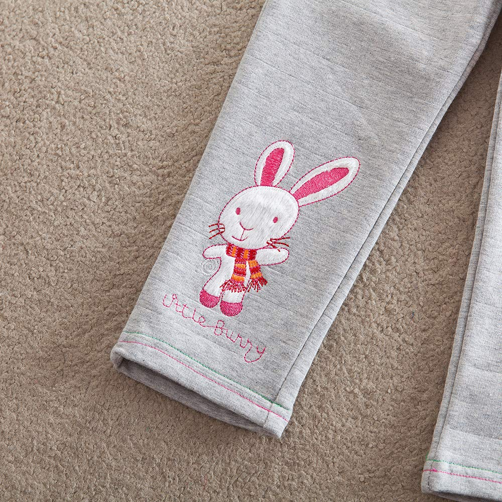 JUXINSU Girl Cotton Leisure Trousers for Kids Baby Pants Beautifully Embroidered and Featured Belt for 2-7 Years K720