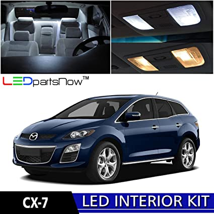 LEDpartsNow 2007 2012 Mazda CX 7 CX7 LED Interior Lights Accessories  Replacement Package Kit
