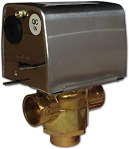 """Valemo V3212-A1S Motorized Zone Valve, 3-way, 1/2"""" Sweat, Normally Closed, 24 VAC with End Switch"""