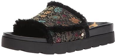 a47e33e5ccd46 Sam Edelman Women s Mares Slide Sandal Black Multi Floral Brocade 5 Medium  US