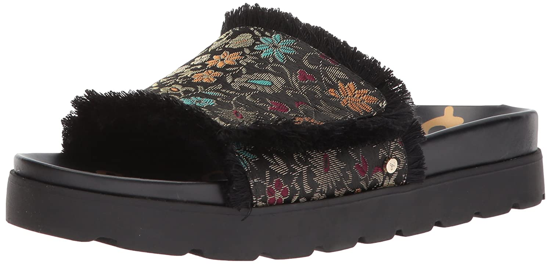 Sam Edelman Women's Mares Slide Sandal B071Y5HZKL 8 B(M) US|Black Multi Floral Brocade