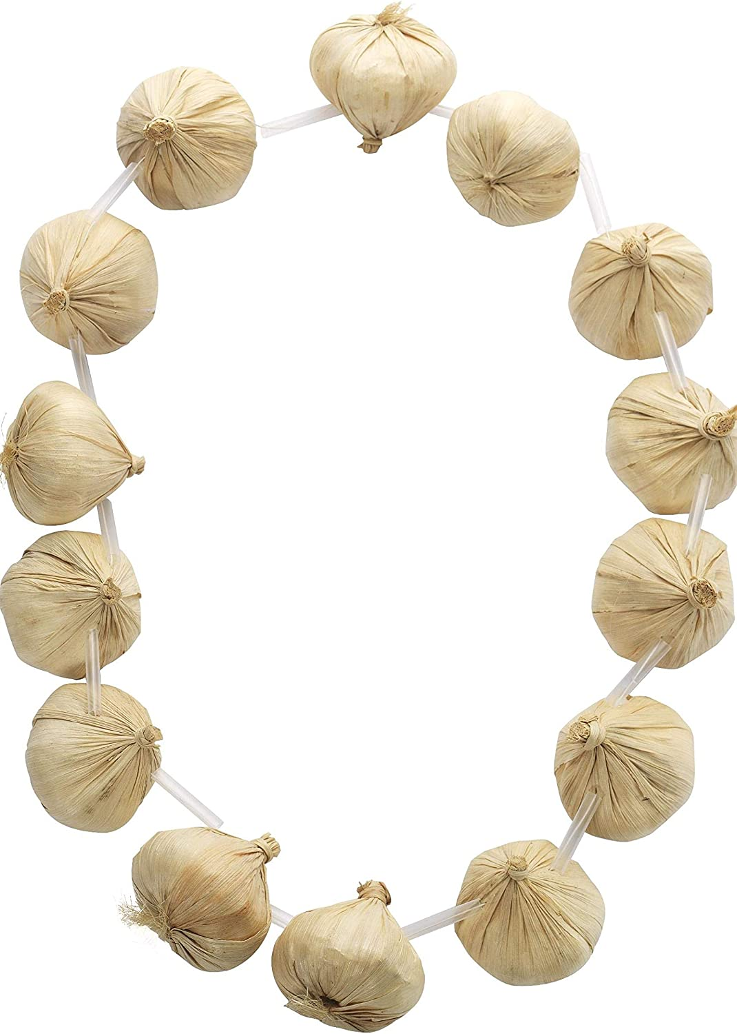 2x GARLAND RED ONION FRENCH STRINGS NECKLACE FRENCH UNISEX FANCY DRESS ACCESSORY
