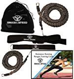 Set of 2 - Smash Speed Strength 80 Lb Resistance Running Training Bungees Band (Waist) & Workout Guide- 4 & 8 Ft - 360° Agility, Fitness Fast-Twitch Athletes Gym Equipment, Track, Football, Basketball