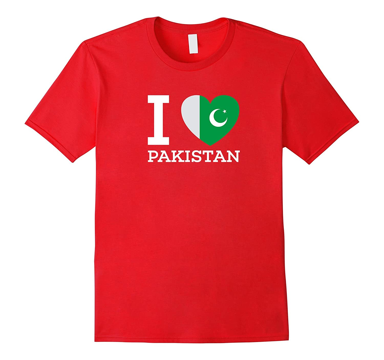 I Love Pakistan Flag Heart T Shirt for PAKISTAN Lovers-CD