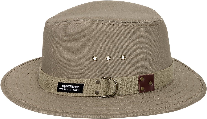 Panama Jack Original Canvas Safari Hat Sun Protection 2 1//2 Brim UPF 50