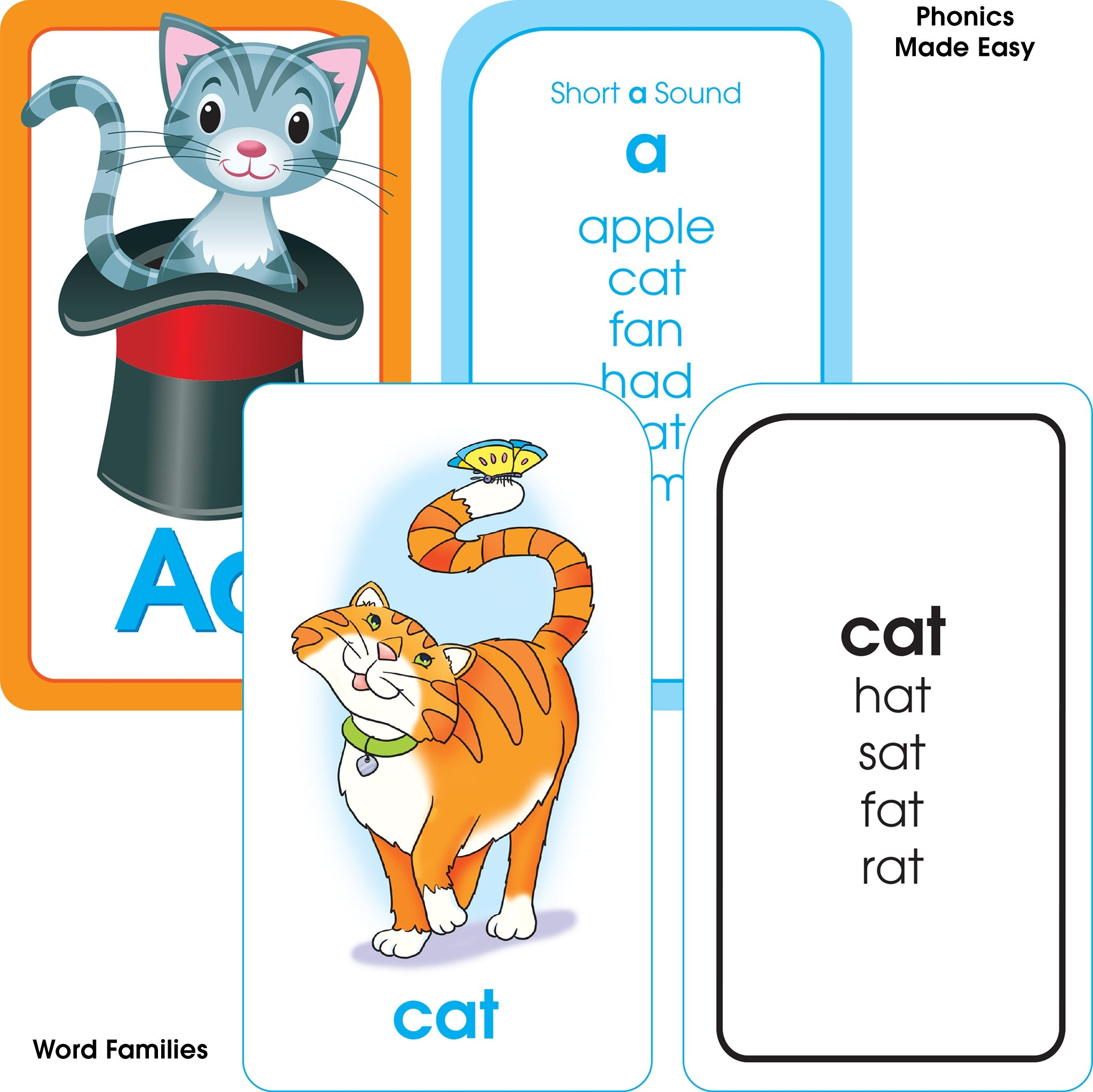School Zone Reading Flash Card 4 Pack Ages 4 and Up Short and