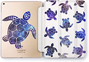 Wonder Wild Case Compatible with Apple iPad Turtle Pattern 9.7 Pro inch Mini 1 2 3 4 Air 2 10.5 12.9 11 10.2 5th 6th Gen Hard Cover Purple Animals Space Stars Galaxy Endless Beauty New