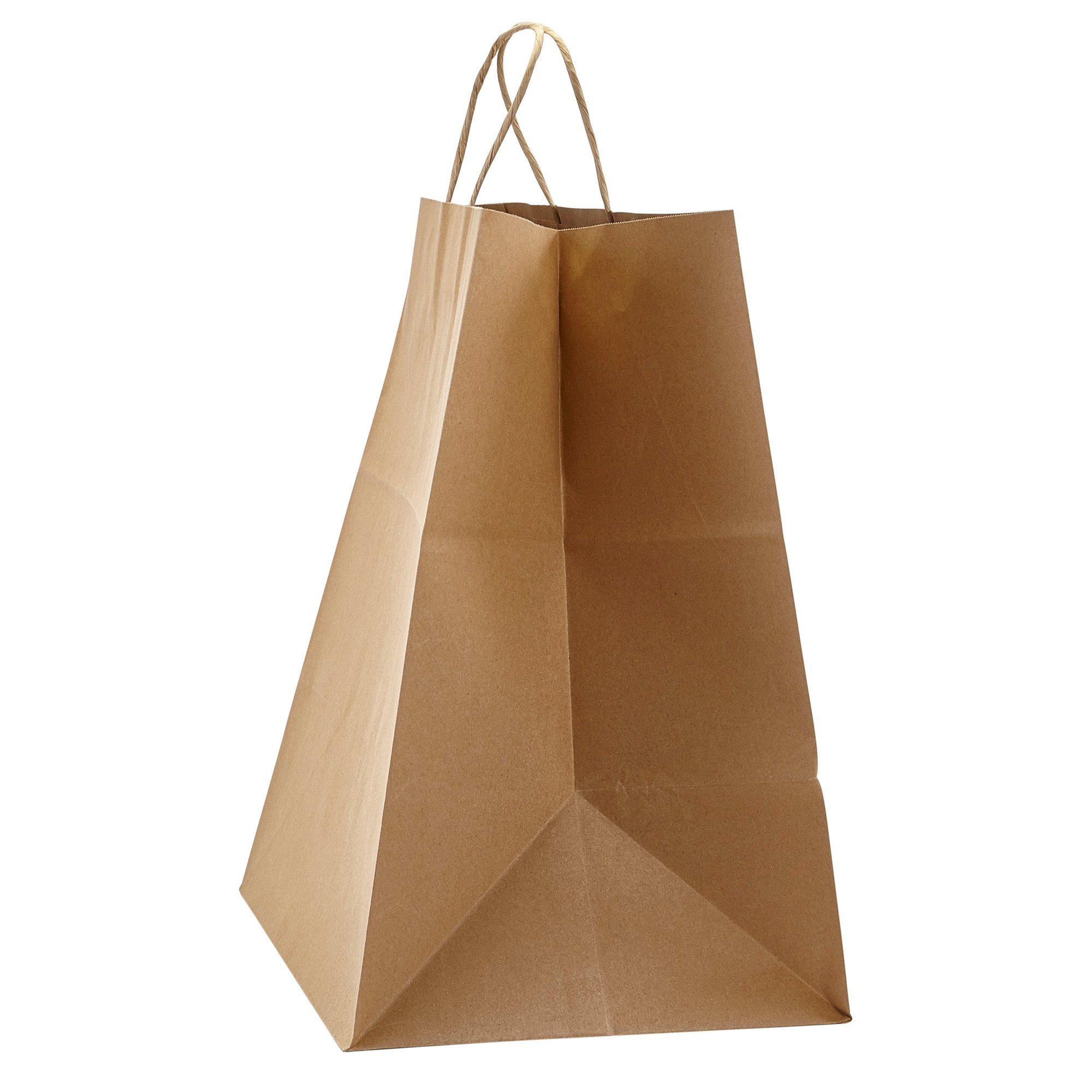 PTP - 14'' x 9.75'' x 15.5'' Natural Kraft Paper Gift Tote Bags - 200 count  Perfect for Birthdays, Weddings, Holidays and All Occasions   White or Natural Colors   Multiple Sizes by Prime Time Packaging Ltd (Image #4)