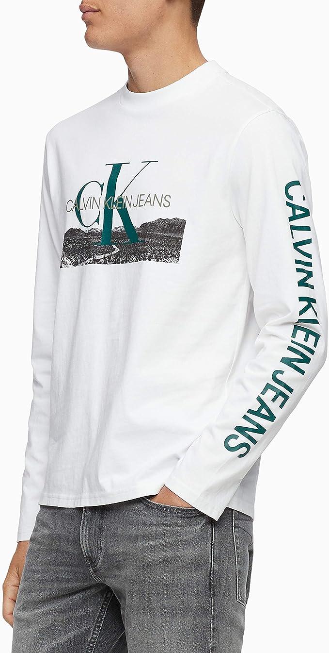 Calvin Klein - Camiseta de Manga Larga con Logotipo para Hombre ...