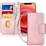 """FYY Case Compatible for iPhone 12 /iPhone 12 Pro 6.1"""", [Kickstand Feature] Luxury PU Leather Wallet Case Flip Folio Cover wit"""