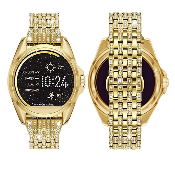 Amazon.com  Diamante Watch Band for MK Access Bradshaw 3b9ea5f92749