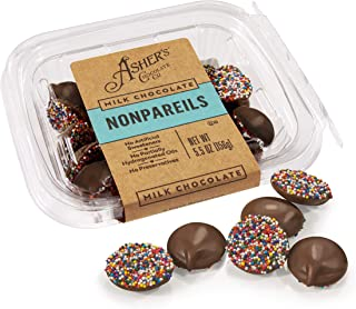 product image for Asher's Chocolates, Sprinkled and Chocolate Covered Nonpareils, Small Batches of Kosher Chocolate, Family Owned Since 1892 (5.5 ounce, Milk Chocolate)