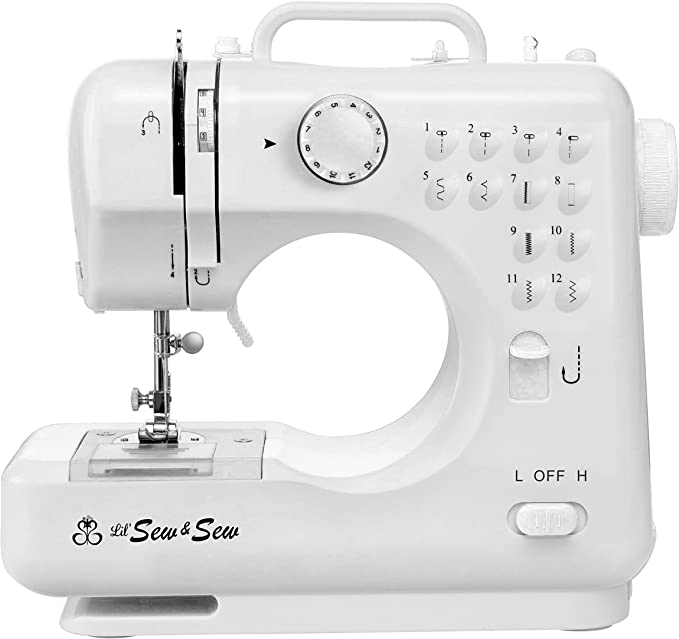 Portable /& Lightweight Luby Sewing Machine for Beginners with 12 Stitches /& Free Arm Renewed