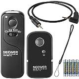 Neewer® DSLR Camera Shutter Release 320ft/100m Wireless Remote Control 2.4G 16CH Transmitter Receiver for Canon G10/G11/G15/G12/G1X/SX50/700D/EOS/1200D/1100D/1000D/650D/600D/550D/500D/450D/400D/350D/300D/100D/60D Series/70D Pentax K5/K7/K10/K20/K100/K200 Samsung GX-1L/GX-1S/GX-10/GX-20/NX100/NX11/NX10/NX5 Contax 645/N1/NX/N