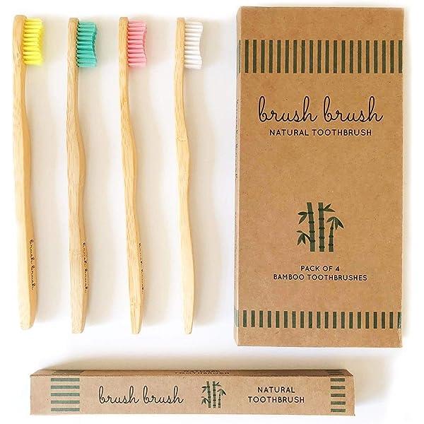 Cepillo de Dientes de Bambu | Ecologico | Mango Biodegradable con ...