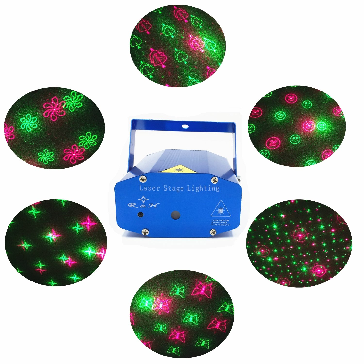 Amazon Disco Laser LED Projector Stage Lights Mini Auto Flash
