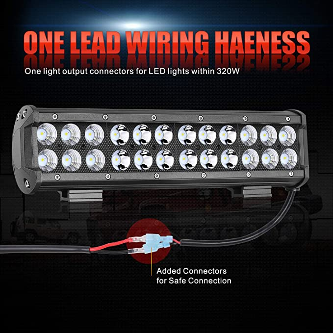 Wiring Harness, OFFROADTOWN 1 Lead Heavy Duty Wiring Harness for LED on